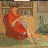 Mama tablou anii 70 pictat in ulei pe panza 60x80cm - Pictor roman, Portrete, Realism