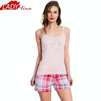 Pijama Dama cu Maieu/Pantalon Scurt, Vienetta Secret, Bumbac 100%, Cod 1341 foto