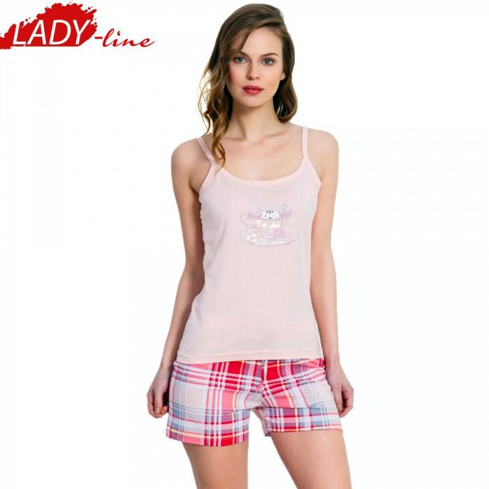 Pijama Dama cu Maieu/Pantalon Scurt, Vienetta Secret, Bumbac 100%, Cod 1341
