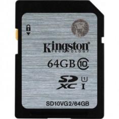 Card memorie Kingston SDHC 64GB, clasa 10 - Multimedia card