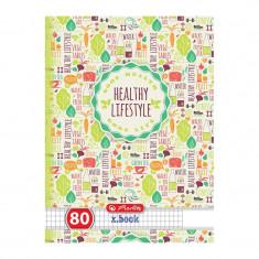Caiet Herlitz A5 80 file Healthy Lifestyle