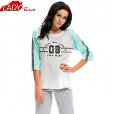 Pijama Dama cu Pantalon 3/5, DN Nightwear, Model Team Sleep, Cod 1251