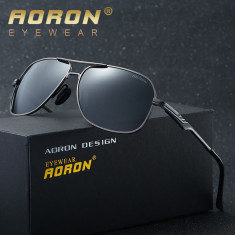 Ochelari Soare - AORON - Polarizati Aviator Style, Rama Metal - Model 1