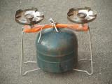 Butelie turist / camping - cu 2 arzatoare - Stare foarte buna!