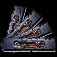 Memorie G.Skill F4-2400C16Q-64GFX, D4, 2400 MHz, 64GB, C16 GSkill FlareX K4 - Memorie RAM
