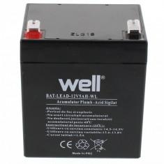 WELL Acumulator plumb acid 12V 5AH, Well - UPS