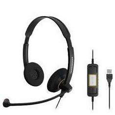 Casti Sennheiser SC 60 USB CTRL, negru - Casti DJ