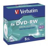 Verbatim DVD-RW Verbatim 1 bucati, 4x, 4.7GB