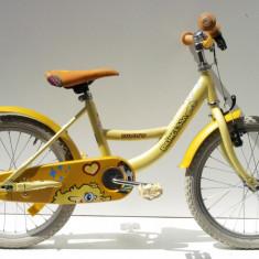 Bicicleta pentru copii galben 16
