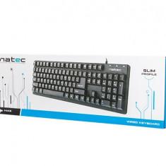 Tastatura Natec Hake, USB 2.0, neagra