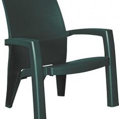 Scaun din plastic Lago verde inchis CURVER - Scaun gradina