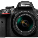 Aparat foto DSLR Nikon D3400,3 inch, 24.2 MP, cu obiectiv AF-P 18-55mm VR, negru