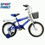 Bicicleta de 16 inch cu roti ajutatoare pentru baieti inre 4 si 8 ani