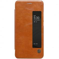 Husa Huawei P10 - Nillkin Qin - Bonus Folie Ecran - Husa Telefon Huawei, Maro, Piele Ecologica