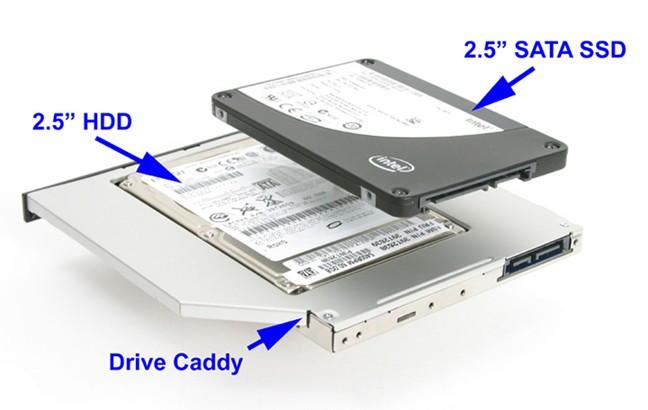 9.5mm Sata-Sata 2nd HDD, caddy SSD / HDD, adaptor rack SSD / HDD.