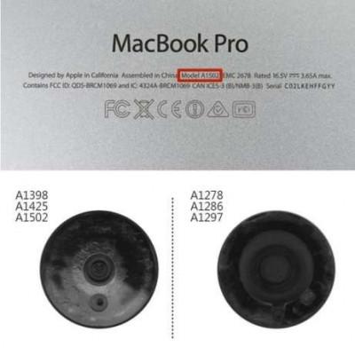 lot set 4 Picioruse / Capacele / Skates MacBook Pro Retina foto