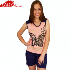 Pijama Dama cu Maie/Pantalon Scurt, Fancy, Love Butterfly, Cod 1293