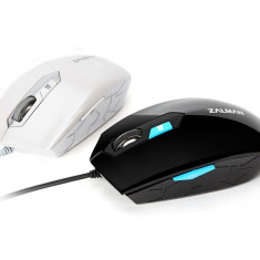 Mouse Zalman ZM-M130C-WH, optic, USB, 2400 dpi, alb
