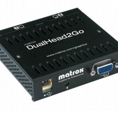 Placa video Matrox Adaptor grafic DualHead2Go, DualAnalogEdition, 3xHD15 (1 input, 2 output)USB - Placa video PC