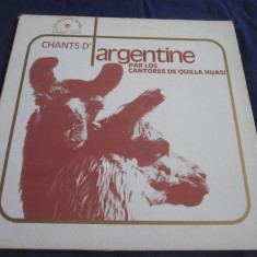 Los Cantores De Quilla Huasi - Chants D'Argentine _ vinyl,LP _Le Chant(Franta)