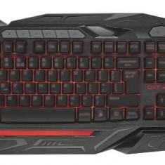Tastatura Trust Gaming GXT 285, iluminata, Negru