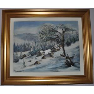 Tablouri de colectie-Teodor VESCU-IARNA,ulei/p/c,Stare PERFECTA