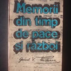 VASILE RUDEANU - MEMORII DIN TIMP DE PACE ȘI RĂZBOI - Istorie, Litera