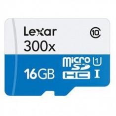 Card memorie Lexar Micro-SD 16GB, C10 H.S., Alb-Albastru - Multimedia card