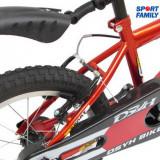 Bicicleta copii de 4 ani cu roti ajutatoare si aparatoare de lant
