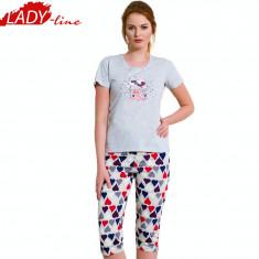 Pijama Dama Pantalon 3/4, Vienetta Secret, Bumbac 100%, Model Surprise, Cod 1342