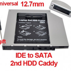 12.7mm IDE-Sata 2nd HDD, caddy SSD / HDD, adaptor rack SSD / HDD.