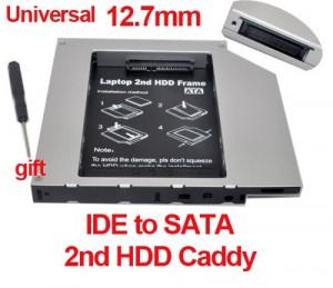 12.7mm IDE-Sata 2nd HDD, caddy SSD / HDD, adaptor rack SSD / HDD.