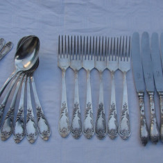 Serviciu de 24 tacamuri rusesti placate cu argint