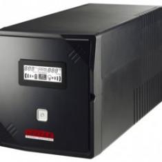 LESTAR UPS V-1000f, 1000VA/600W, AVR, 2xIEC+2xFRENCH, USB, RJ 45