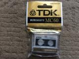 Micro caseta microcaseta microcassette TDK MC 60 reportofon audio noua sigilata