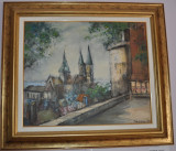 PICTURA,Teodor VESCU-Castel in Franta,ulei/p/c,STARE PERFECTA