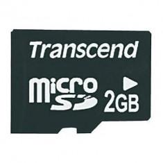 Card memorie Transcend Micro SD, 2 GB - Multimedia card
