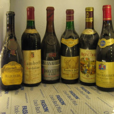 6 sticle vin -VECHI DE COLECTIE - LOT. (nr. 2BIS )recoltare 1964/66/67/68/69/70 - Vinde Colectie, Aroma: Sec, Sortiment: Rosu, Zona: Europa