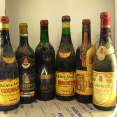 6 sticle vin vechi, de collection( LOT: Nr. 12 ) recoltare 1961/62/63/64/65/66 - Vinde Colectie, Aroma: Sec, Sortiment: Rosu, Zona: Europa