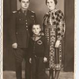 FOTO VECHE - MILITAR CU FAMILIA, PORT POPULAR - Fotografie veche