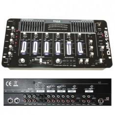 Consola DJ Ibiza MIXER 6 CANALE 19 inch NEGRU LUCIOS - Console DJ