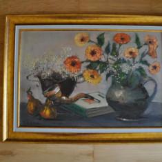 Pictura,Teodor VESCU,Natura statica,ulei/p/c, 38x58/50x70cm,Stare PERFECTA