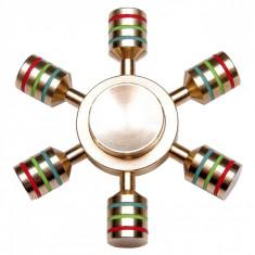 Fidget Spinner Auriu Metal Demontabil - Jucarie antistres si de competitie