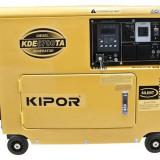 KIPOR Generator insonorizat KDE 6700 TA, diesel, 4.5 kW, fara automatizare - Generator curent