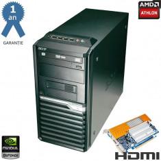 Calculator Athlon II X2 250 3GHz 4GB DDR2 80GB GF8400GS 512MB (1GB) 128-Bit HDMI - Sisteme desktop fara monitor Acer, AMD Athlon II, Peste 3000 Mhz, 40-99 GB, AM2+