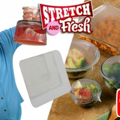 Set 4 folii pentru alimente Stretch and Fresh - Folie si punga alimentara
