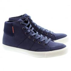 41_adidasi originali inalti barbati Jack and Jones_din panza_albastru_in cutie - Adidasi barbati Jack & Jones, Textil