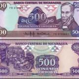 Nicaragua 1985 - 500 cordobas UNC - bancnota america