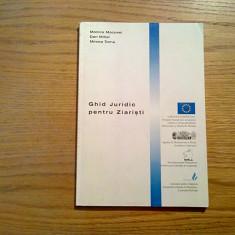 GHID JURIDIC PENTRU ZIARISTI - Monica Macovei - Academia Catavencu, 2002, 123 p.