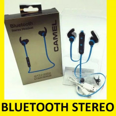 Casti Bluetooth Stereo cu incarcare minusb USB, Casti On Ear